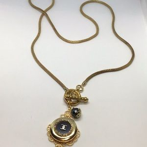 Beautiful Authentic Designer black Button necklace